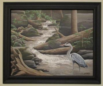 Blue Heron 23x19