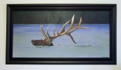 Swimming Elk 22x40